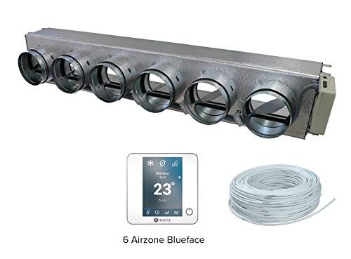 Airzone AM6FUJ03M6CW Pack Easyzone 6 Zonas Cableadas Color Blanco para Fujitsu ARYG/ARHG/ACY/ACG