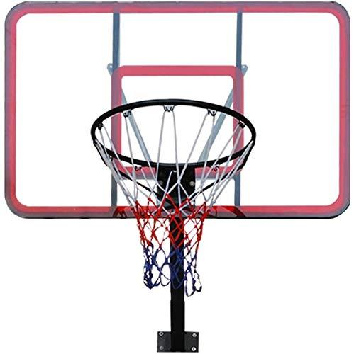 Aro de baloncesto ajustable con muelles de compresión y red sólida para montar en la pared, tablero de baloncesto estable, Solid circle