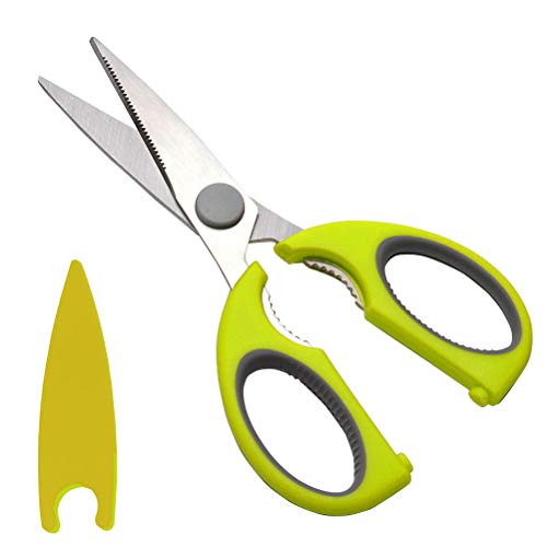 Kitchen Scissors,Stainless Steel Food Fish Chicken Poultry Scissors Bones Meat Cutting Kitchen Shear Scissors Baby Food Scissors with Protective Case
