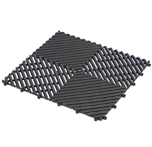 eliga Bodenmatte PVC schwarz