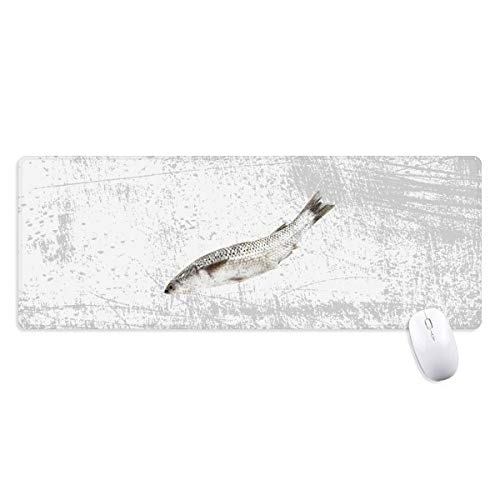 beatChong Ocean Fish Fresh White Non-Slip Mousepad Large Extended Game Office titched Edges Computer Mat Gift