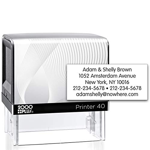2000 Plus Large Size Self Inking Custom Text Stamp - Choose from Many Fonts & Colors!