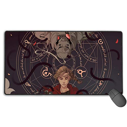 Fullmetal Alchemist Anime Mouse Pad Gaming Mouse Pads Non-Slip Rubber Base Mouse Pad Desk Accessories Keyboard Pad Large Size (29.5x15.8 in / 75x40cm) for Work Gaming Office Home