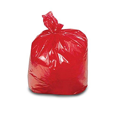 The Chemical Hut, Sacchi per la spazzatura resistenti e colorati, con codice colore,forniti con penna antibatterica TCH inclusa, Red x20