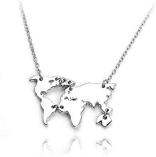 CXYCXY Co.,ltd Collar Collar Nuevo Colgante De Molécula De Serotonina Collar De Molécula De Dopamina Collar De Mapa del Mundo Montaje Erkek Kolye