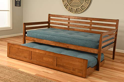 Best Wood Daybed Twin Size Choice to Add Trundle and or Mattresses (Day Bed w/Trundle w/ 2 Mattresses)