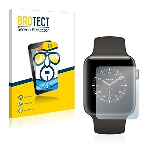 BROTECT Schutzfolie kompatibel mit Apple Watch Edition Series 3 (38 mm) (2 Stück) klare Bildschirmschutz-Folie