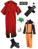 Us Size Uzumaki Cosplay Costume Cloak Gown Full Set (Men S)