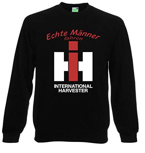 Bimaxx® Sweatshirt   Echte Männer Fahren IHC Harvester   schwarz   Größe L