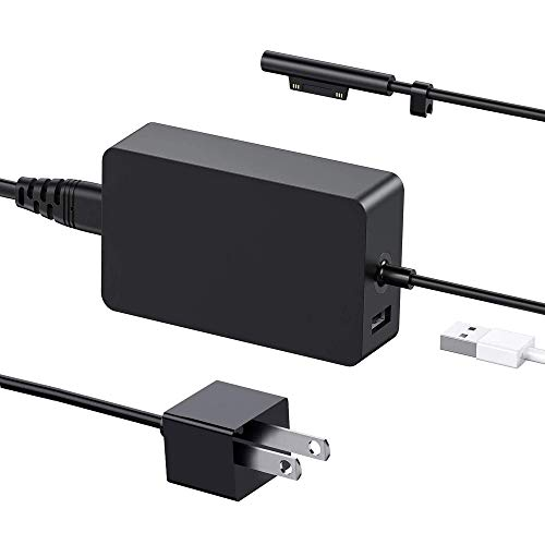 [Upgraded Version] Surface Pro Charger 65W for Surface Pro 3/4/5/6/7 Power Supply Adapter, Compatible for Both Microsoft Surface Book Laptop/Tablet,Works with 65W&44W&36W&24W (6.6 Ft Cord)