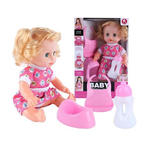 Misis Mädchenpuppen Für Kinder, Sprechende Babypuppen Trinken Wasser, Sprechen Und Blinken, Baby-Aufklärungspuppen Für Kinder Big Sale