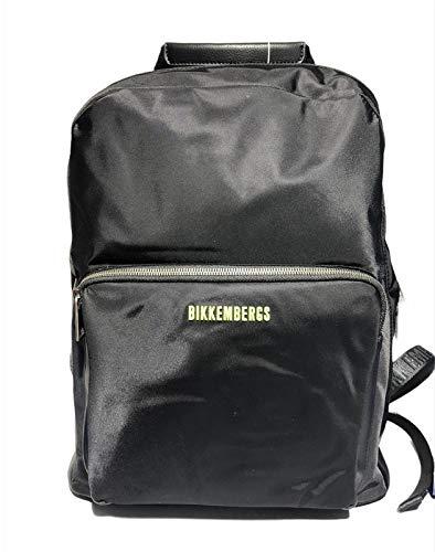 Bikkembergs Mochila de hombre tejido E1Q006 color negro 30 x 42 x...