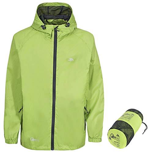 Trespass Unisex Erwachsene Qikpac Jacket Kompakt Zusammenrollbare Wasserdichte Regenjacke, Grün (Leaf), M