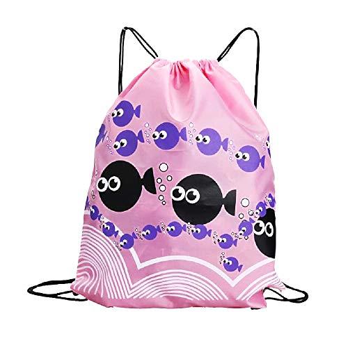 Rugzak - tas - tas - sport - rugzak - zwemmen - sport - gym - gymnastiek - trekkoord - dans - origineel cadeau-idee - regenjas - bubbels - vis - roze