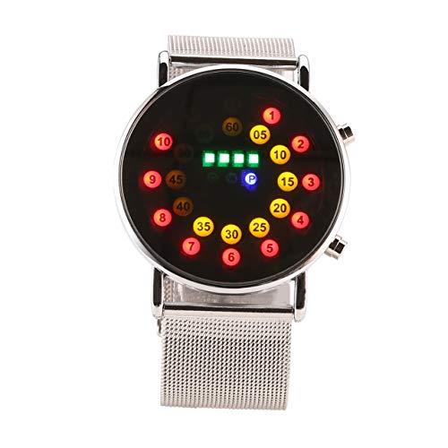 Zhou-YuXiang Elegante Reloj de Moda Impermeable LED Pantalla táctil Digital día Fecha Correa de Silicona Reloj de Pulsera Digital para Hombres