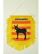 Catalonië met Donkey mini Banner 6'' x 4'' - Catalaans PENNANT 15 x 10 cm - mini Banners 4x6 inch - AZ FLAG