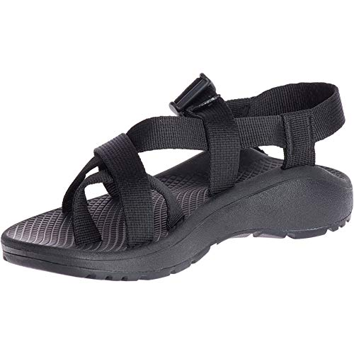 Chaco Women's Zcloud 2 Sandal, Solid Black Red, 9