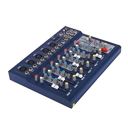 Husuper Digital Audiomixer mit 48V Phantomspeisung Mischpult USB MP3 Audio Mixer für die Aufnahme von DJ Bühnen Karaoke Musik 220V (7 kanal)