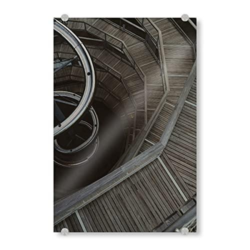 artboxONE Acrylglasbild 45x30 cm Reise Baumwipfelpfad im Schwarzwald - Bild treppe Aussicht Autumn