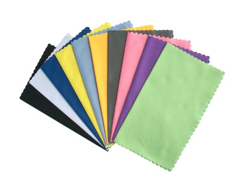 ColorYourLife 10-Pack Microfiber Cleaning Cloths for Smart phones, Laptops, Tablets, Lenses, LCD Monitor, TV, Camera, Glasses, Optics Etc