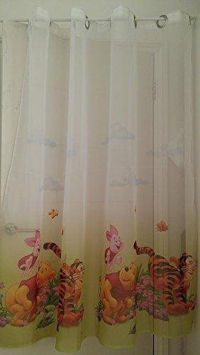 Lot de 2 rideaux de douche Winnie l'Ourson avec œillets - 75 cm de largeur x 150 cm de hauteur