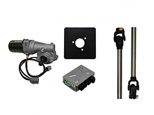 SuperATV EZ-Steer Power Steering Kit - Universal/Adaptable (220W) - Adaptable for Mini Sprints,...