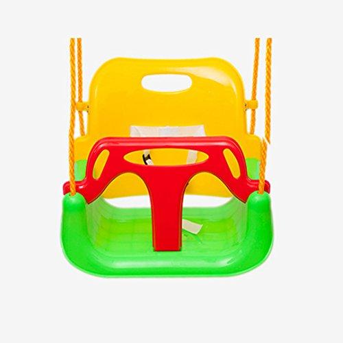 EXTSUD 3 En 1 Columpios Infantiles para Bebés Niños con Silla Convertible en Asiento de Seguridad, Carga Máx. 150 KG, para Casa Jardín Interiores o Exteriores (Verde)