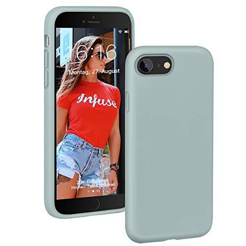 ProBien Silikon Hülle Kompatibel mit iPhone SE 2020, iPhone 8/7 Hülle [Stoßfest] Handyhülle Anti-Fingerabdruck Kratzfest Schutzhülle Bumper Hülle Cover für iPhone 7/8 / SE 2020 - Mint