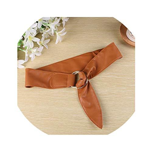 Anillo de metal para mujer, con cintura ancha, diseño otoñal, 3 colores Marrón marrón Talla única