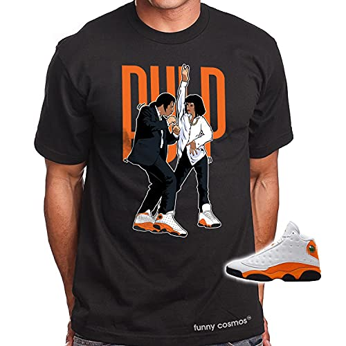 Pulp Fiction Dance T Shirt to Matching Jordan 13 Starfish Orange and White Shirts Shirts Hip-Hop Tshirt Sneakers Matching (XL, Pulp Fiction Dance)