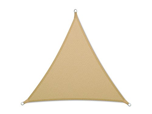 casa pura Sun Shade Sail | Sun Shades for Patio and Garden | Triangle | Multiple Sizes | Beige - 16' x 16' x 16'