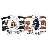 Bestchong Pulsera de piel con diseño de bandera de Grecia para maquillaje facial y gorro, correa de mano
