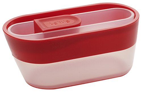 Lékué - Cuchara y taza medidoras, 12 x 2.9 x 2.3 cm, color rojo