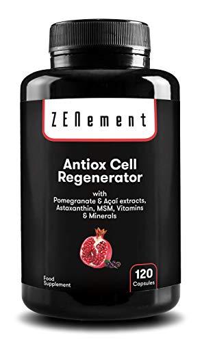 Antioxidante Regenerador Celular, Anti-edad, 120 Cápsulas, con Granada, Açaí,...