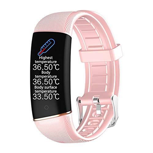 FZXL E98 Pulsera Inteligente Hombres y Mujeres Fitness Ritmo cardíaco Sleep Monitor de sueño Pulsera Inteligente Reloj de presión Arterial IP67 Pulsera Inteligente Deportiva,D