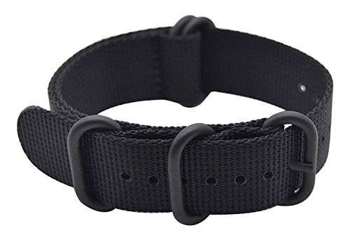 Shieranlee 24mm NATO Strap with Schwarz Schwere Schnalle Nylon NATO Uhrarmband for Spartan Sport Wrist HR Baro/Suunto D5/ Suunto 9 Baro/Suunto Traverse and Any Watches with 24mm Lug