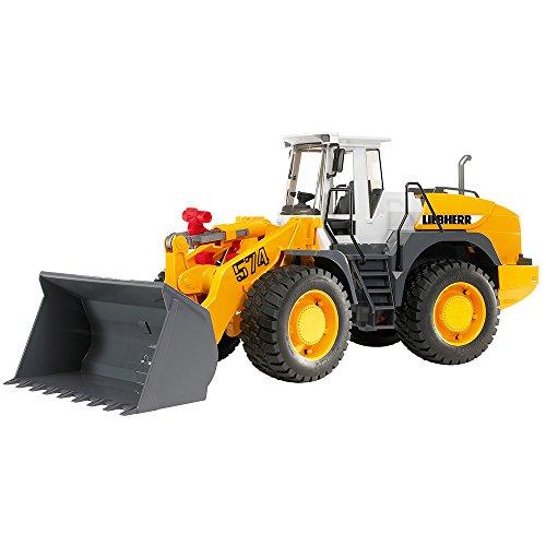 Bruder Bruder-2430 Toys 02430-Liebherr L574 cargadoras sobre Ruedas, Negro, Color Blanco, Amarillo (2430)