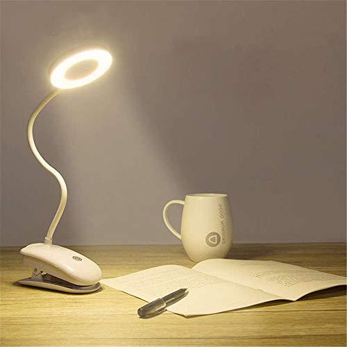 ZCHPDD Clip Klapptischlampe Led Tischlampe Wiederaufladbar 3 Modi Augenschutz Led Dimmtischlampe Warmweiß 130 * 440Mm
