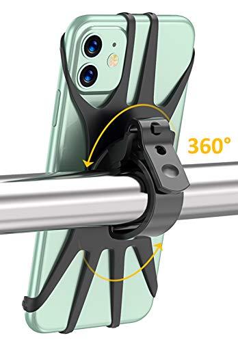 Cocoda Porta Cellulare Bici Regolabile con Rotazione a 360°per Manubrio Universale Bici Moto MTB Compatibile con iPhone, Samsung, Xiaomi, Huawei, LG, Asus e Tutti Gli Altri Smartphone 4.0-6.5 Pollici