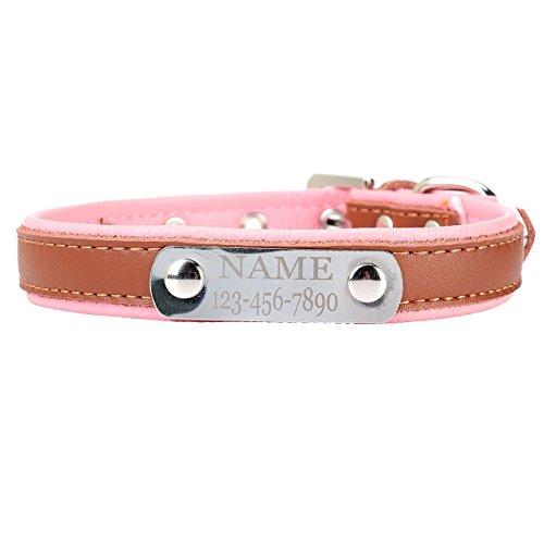 Mogoko Personalized Soft Leather Dog Collar