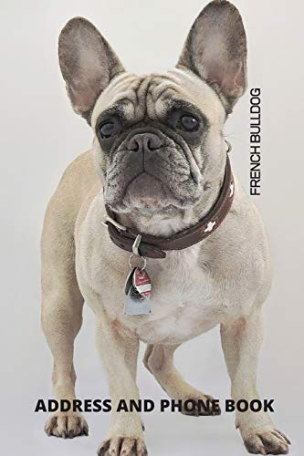 Address and Phone Book: French Bulldog Dog Lover Gift (with discreet password journal section), Organized in Alphabetical Order, Discreet internet ... month by month birthday/anniversary section.