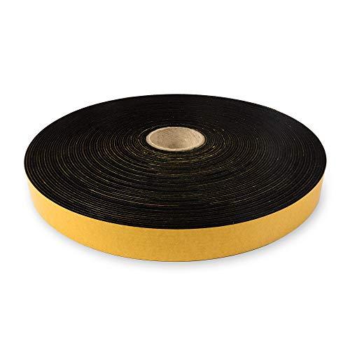 The Felt Store - selbstklebendes Filzband aus schwarzem Filz, 20 mm breit, 1,5 mm dick, 20 m lang