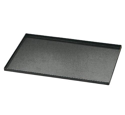 Matfer Bourgeat 455003 Plaque de cuisson en acier bleu avec bords droits, carbone, noir