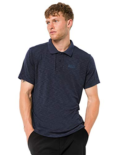Jack Wolfskin Herren TRAVEL Men Schnelltrocknendes Polo Shirt, Night Blue, L