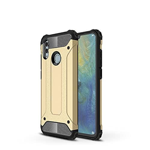 GUOQING Carcasa de telefono Funda Protectora para Huawei Honor 10 Lite Case, para Huawei Honor P Smart 2019 Case, TPU + PC Dual Capa Dual Layer Hybrid Hybrid Protective Case (Color : Gold)
