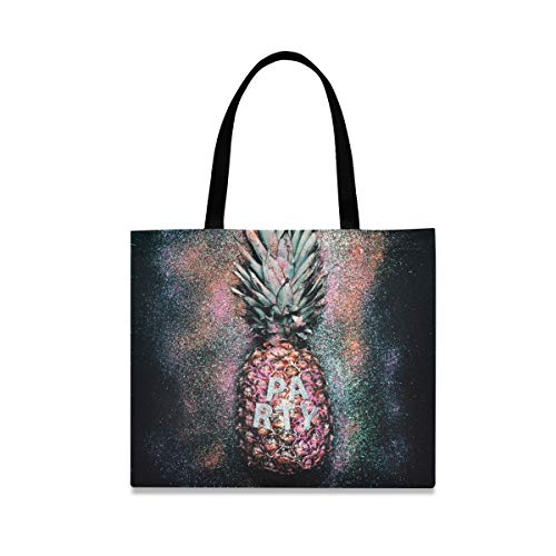 XiangHeFu Bolso de mano reutilizable al aire libre Casual gran capacidad bolso piña fruta fiesta moda