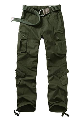 AKARMY Womens Cargo Pants with Pockets, Outdoor Casual Ripstop Military Combat Construction Work Pants 2040 ArmyGreen