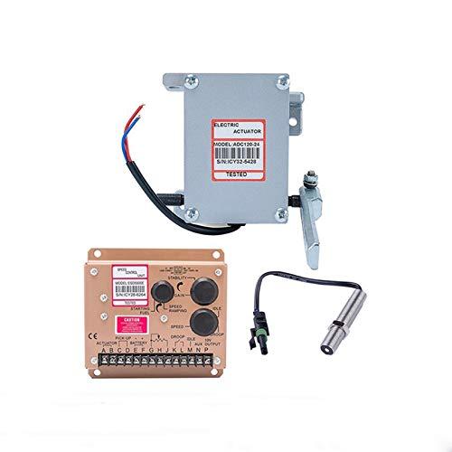 HUYANJUN, Actuador de alta calidad ADC120 Diesel Generator Gobernador 1Set ADC120 Actuator 3034572 Pickup Sensor ESD5500E Speed Controller (Voltage : 24V)