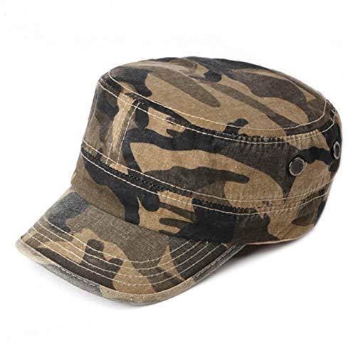 Militaire muts vintage hoge kwaliteit camouflage militaire hoeden voor mannen verstelbare unisex herfst legerpet casual camo vlakke navy leger Air Force platte top hoed