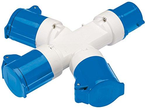 Draper 230 Vssp16 répartiteur à 3 voies, 230 V, Bleu
